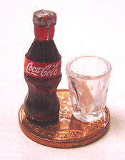 1:12 Small Coke Bottle & Plastic Glass Tumdee Dolls House Pub Bar Cafe Drink NG
