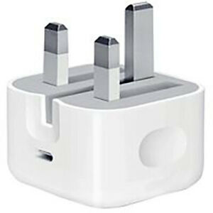 Genuine Apple A1696 Fast 18W Travel Mains Charger USB-C Folding Plug