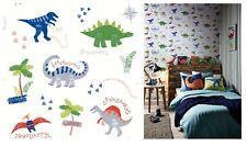 Arthouse Dino Doodles Multi Kids Dinosaur Blue Grey Red Wallpaper, 667500