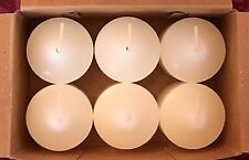 PartyLite White Gardenia Truffle Votive Candles V06106 New 6 Floral Retired Rare