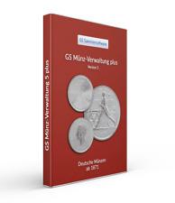 GS Münz-Verwaltung 5 plus - Deutschen Münzen ab 1971 - Software für Sammlung