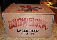 Limited Edition Budweiser Wooden Wood Crate w/ Glasses & Certificate
