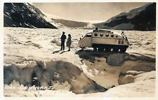 # A3100  SNOW MOBILE on  CANADIAN  GLACER  REAL  PHOTO  POSTCARD,