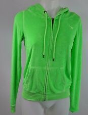 Victoria's Secret Pink S Small Hoodie Terry Cloth Green NWT READ Zip Neon Lime