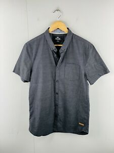 Mossimo Men's Short Sleeved Button Up Casual Shirt Size S Black