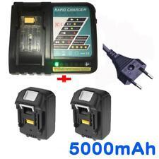 2X 18V 5.0AH Akku für Makita BL1830 BL1840 BL1850 BL1860+Ladegerät
