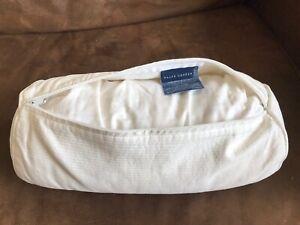 Ralph Lauren Home Bedding White Cotton Bolster Pillow Neck Roll