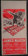 Locandina ROMMEL LA VOLPE DEL DESERTO 1951 INTROVABILE!!! JAMES MASON