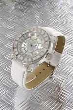 orologio donna bracciale in pelle Nele Fortados - molti strass -.design - A2410