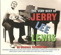 THE VERY BEST OF JERRY LEE LEWIS - 3 CD BOX SET - GREAT BALLS OF FIRE & MORE