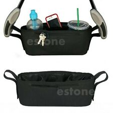 Baby Stroller Tray Console Storage Bag Parent Organizer Phone Drink Cup Holder