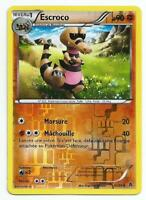CARTE POKEMON ESCROCO 61/98 REVERSE PV 90. NB POUVOIRS EMERGENTS. FRANCE