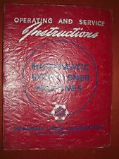 Micromatic Quill Type Hydro Honer Operator & Service Manual