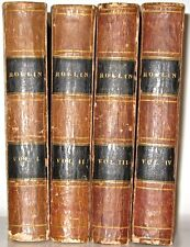 Leather Set; 1841 Rollin ANCIENT HISTORY! Rome Greece Plates Maps Egypt Babylon!