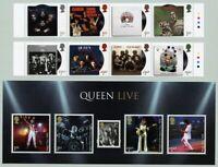 Großbritannien UK 2020 50 Jahre Queen Musik Pop Rock Mercury Satz & Block MNH