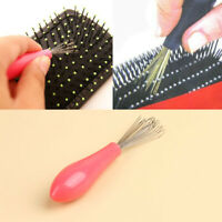 1x Comb Hair Brush Cleaner Cleaning Remover Embedded Tool Plastic Handle
