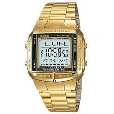 Casio Digital Fashion Watch Data Bank Gold Mens Db-360g-9a