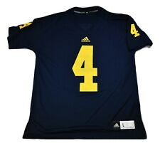 adidas Mens Michigan Wolverines #4 Football Jersey New M, L, XL, 2XL