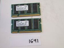 Samsung 2x512Mb=1Gb 333Mhz PC2700 200pin DDR1 SODIMM laptop memory RAM (1691)