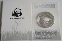 Bermuda 1 Dollar 1986 25 Jahre WWF Suppenschildkröte Silber PP