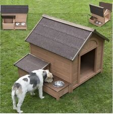 Wooden Dog House Kennel Shelter Large Garden Wood Outdoor Pet Cat Comfort Airing
