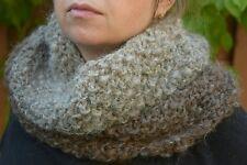 Bulky Hand Knit Cowl neckwarmer degrade  brown