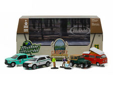 MOTOR WORLD DIORAMA CAMPSITE CRUISERS USFS ED 7PC SET 1/64 GREENLIGHT 58031