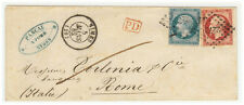 France cover 1862 Nimes  to Roma (IT)