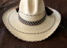 Western Horse Hair Flat Hatband Rodeo Cowboy Wide Horsehair Hat Band