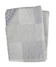 """krasilnikoff Quilt """" patchwork """" gris clair Couvre-lit blanc points coton Pl"""