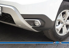 Dacia Renault Duster CHROME FOG LIGHT FRAME TRIM 2 PCS S.Steel 2018>UP