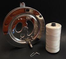 Stainless Steel Kite Reel + 1,000' + Polyester Braided Line + Metal Swivel Hook