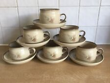 Denby Memories 6 x Cups and Saucers