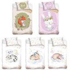 Baby Bettwäsche - Kinder 100x135 cm & 40x60 cm Baumwolle Fuchs Hase Bär Reh