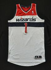 WASHINGTON WIZARDS #1 NO NAME ADIDAS REV30 MESH BLANK NWT SEWN MEN WHITE L+2