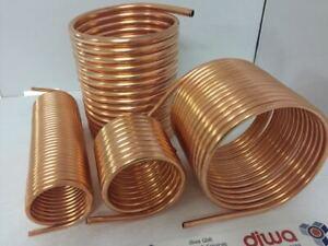 26cm Kupferrohrspirale Spirale aus Kupferrohr 15x1mm 10m mit Außendurchmesse ca