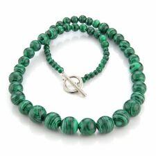 Collana in pietra malachite verde 4-12mm stile etnico HK