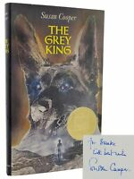 Susan Cooper THE GREY KING Signed 1st Edition 2nd printing 1976 Hardcover in DJ