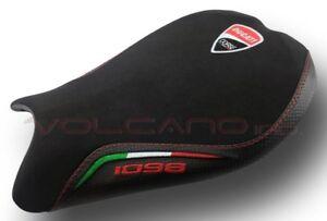 Ducati 848 1098 1198 Volcano design Seat cover Anti slip black italy flag race
