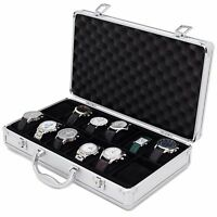 12 Watch Storage Aluminium Case Watch Box Textured TSBOXAL12-TEX