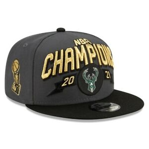 Milwaukee Bucks New Era 9FIFTY NBA Finals Locker Room Champions Snapback Hat Cap