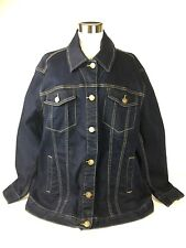 Womens Lane Bryant Dark Wash Denim Jacket NWOT 18 XL 1X
