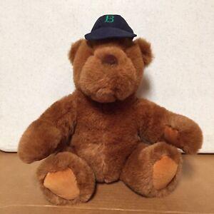 """Plush Teddy Bear Baseball Cap Lands End by Gund Limited Edition 1991 14"""" AR40"""