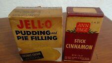 Vintage Jello Pudding Pie Mix Unopened Coconut Cream Cinnamon Stick Ann Page