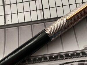 Vintage 1970s MONTBLANC Classic Fountain Pen Rhodium and GFM Trim