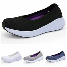 Summer Womens Lightweight Breathable Slip On Boat Shoes Casual Loafers Flats L