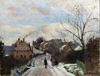 PAINTING CITYSCAPE LONDON PISSARRO FOX HILL NORWOOD ART PRINT POSTER LAH020