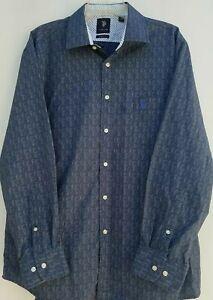 U.S. Polo Assn Long Sleeve Shirt Mens XL Medium Blue Slim Fit 17 - 17 1/2 Neck