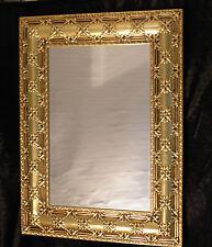 Espejo de pared dorado grande antiguo frisieur Pasillo Barroco Amplias baño