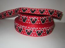 """Grosgrain Red Polka Dot Mouse 7/8"""" Inch Ribbon For Hair Bows Diy Crafts"""